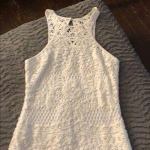 Lilly Pulitzer crochet white dress M